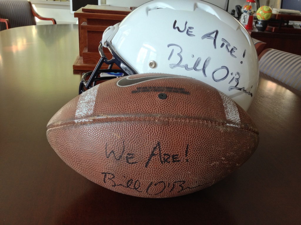 Penn State Football, signed by Coach O'Brien