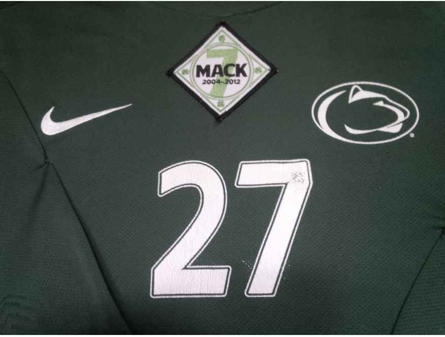 Danny's Jersey with the Mack Patch